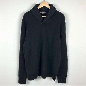 Michael Kors black knit cowl neck sweater XL